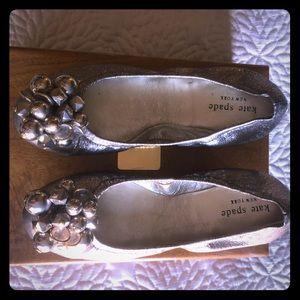 Kate Spade Silver Ballet Flats